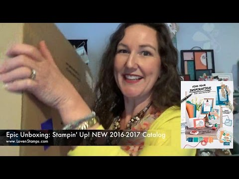 Sneak Peek Unboxing: 2016-2017 Stampin' Up! Catalog