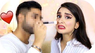 MEIN FREUND schminkt MICH! - Boyfriend does my makeup CHALLENGE | Sanny Kaur