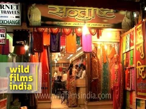 Saree shop selling Benarasi sarees in Varanasi