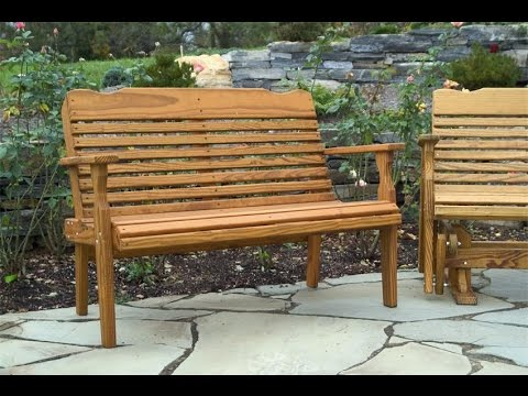 Outdoor Wood Bench | Painting An Outdoor Wood Bench
