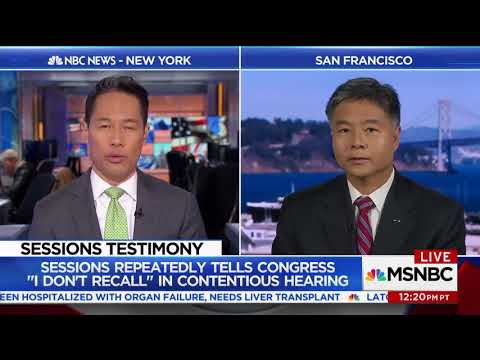 REP. LIEU SPEAKS WITH RICHARD LUI ON AG SESSIONS