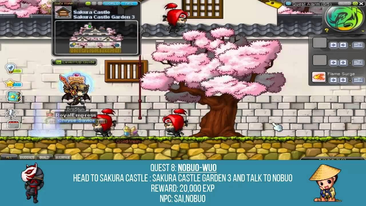MapleStory Sakura Castle Walkthrough - Quest 4 10: Nobuo-wuo