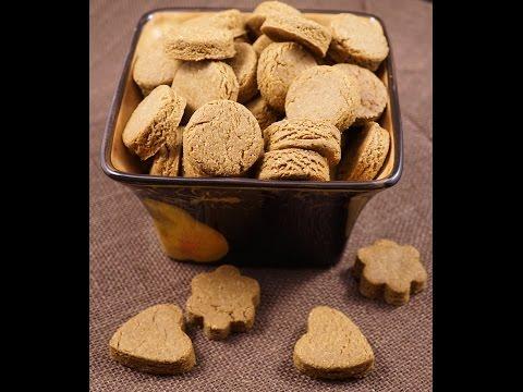 Vegan Peanut Butter Oat Dog Biscuits