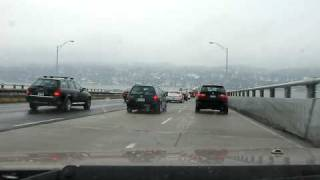 Crossing The Tappan Zee Bridge In Holiday Traffic