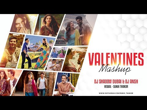 Valentines Mashup 2019 ❤ DJ Shadow Dubai & DJ Ansh | Sunix Thakor |Best Romantic Songs Mp3