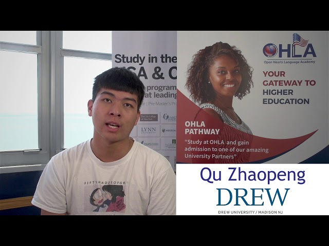 QU Zhaopeng from OHLA to Drew University