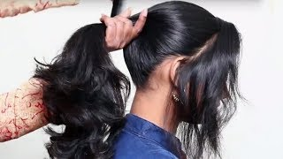 3 Different Ponytail Hairstyles for School Girls || Last Minute Hairstyles for School Girls 2018