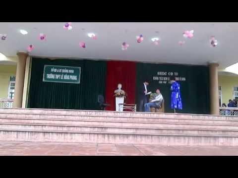 Sinh hoạt dưới cờ 10a1 THPT Lê Hồng Phong 2014