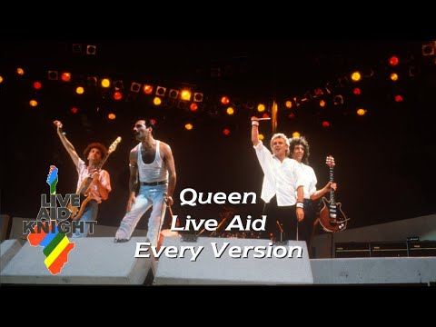 Live Aid - Queen (Every Version)