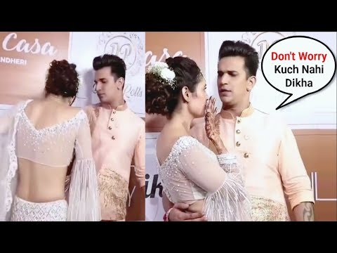 Prince Narula Saves Yuvika Chaudhary From Embarrassing  Moment At Sangeet Ceremony
