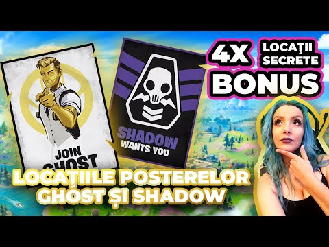 All Location Recruitment Posters GHOST & SHADOW | Week 6 Deadpool Challenges| Fortnite Romania