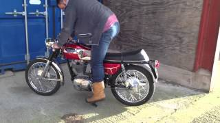 1969 Ducati 350 Desmo Started For The First Time