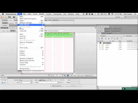 Getting Started With Dreamweaver CS6 Fluid Grids