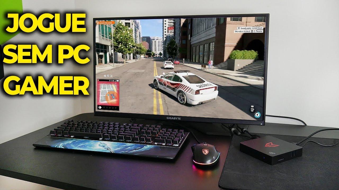 JOGAR GAMES PESADOS SEM TER PC GAMER, TESTEI O GEFORCE NOW EM JOGOS! (em 2021)