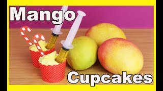 How to make injectable MANGO CUPCAKES for Christmas! Baking with Charli's Crafty Kitchen