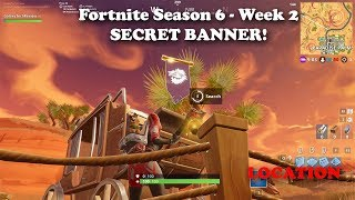 Fortnite - Season 6 Week 2 Secret BANNER Location and Loading Screen