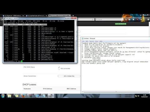 Install firmware openwrt di router Huawei HG553