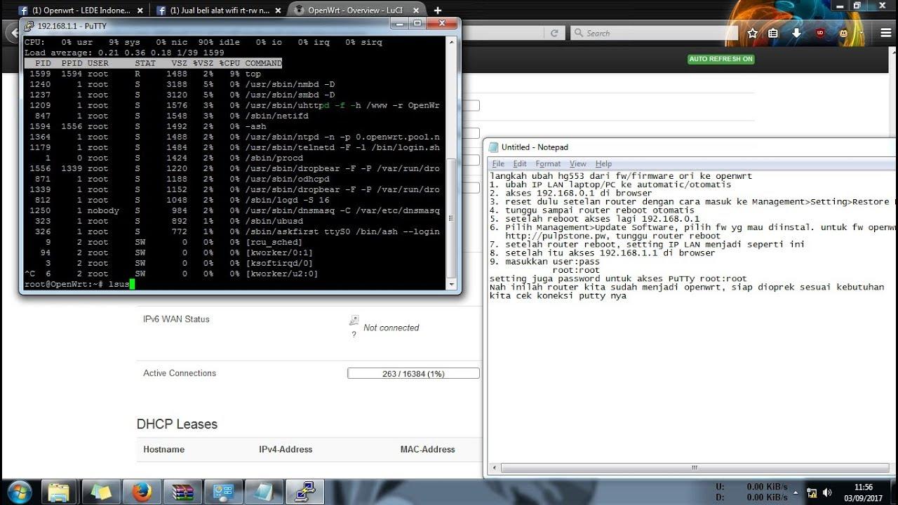 Cara MUDAH!! instal openwrt di router Huawei HG553