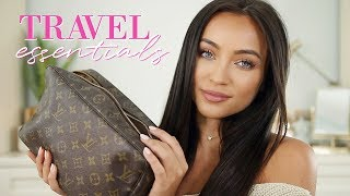 What's in My Travel Makeup/Toiletry Bag! Travel Essentials | Stephanie Ledda