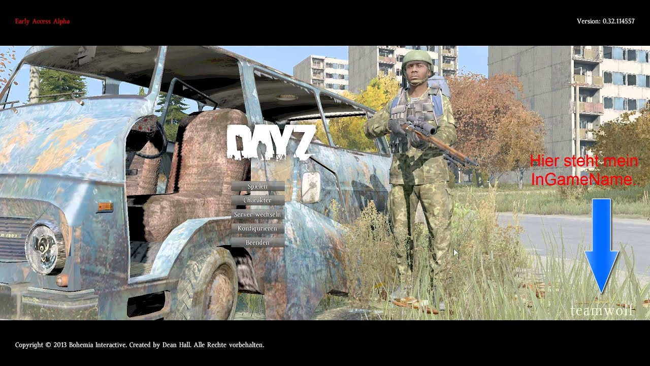 dayz standalone in game name ndern youtube. Black Bedroom Furniture Sets. Home Design Ideas