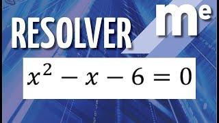 Resolver x^2-x-6=0 Ecuación de segundo grado.