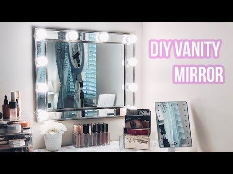 How to make a vanity mirror with light bulbs