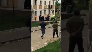Politia an actiune la g9 Hunedoara