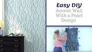 How to Stencil An Accent Wall Using Pearls Allover Stencil
