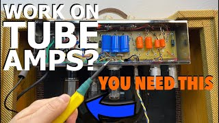 Making a Capacitor Discнarge Tool // Discharge Capacitors in a Tube Amplifier // Tube Amp Safety