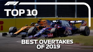 Top 10 Best F1 Overtakes of 2019