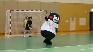 くまモン、優しい選手の皆さんとゆるゆるとハンドボール対決?!@東京女子体育大学2018/10/06