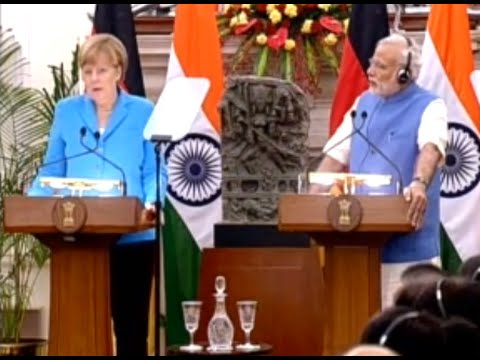 PM & German Chancellor at Business Forum