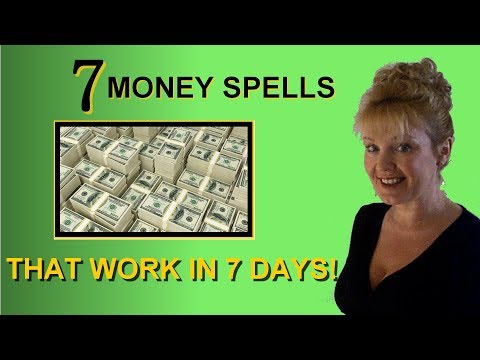 7 MONEY SPELLS THAT WORK IN 7 DAYS! Revealed by a Real Witch