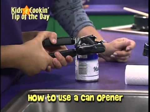 How To Use A Can Opener Youtube