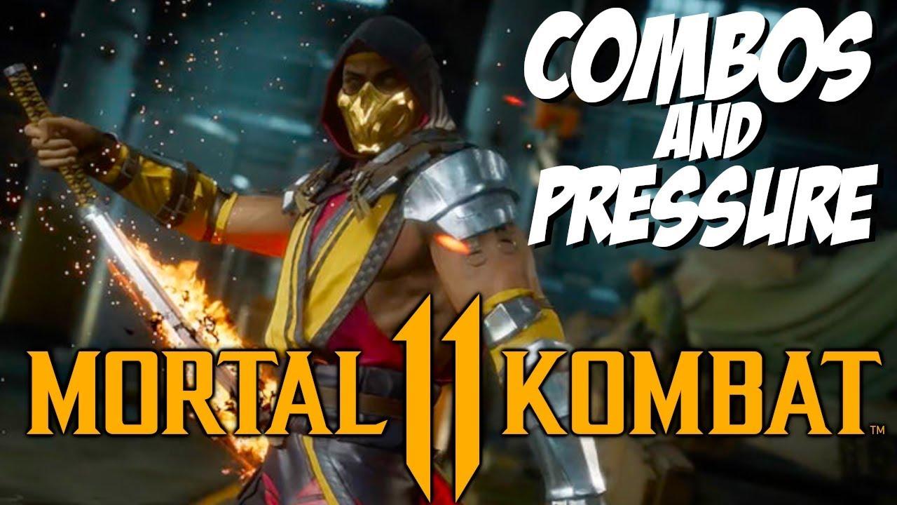 MK11 SCORPION COMBOS AND PRESSURE!! | Mortal Kombat 11 Beta Stress Test