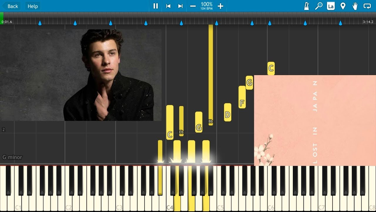 Shawn Mendes - Lost In Japan Piano - YouTube