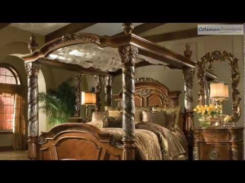 Villa Valencia Canopy Poster Bedroom Collection From Aico Furniture