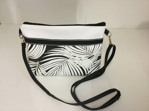 ecd4610807 Coudre un petit sac à bandoulière en similicuir - Tuto Couture Madalena -  YouTube