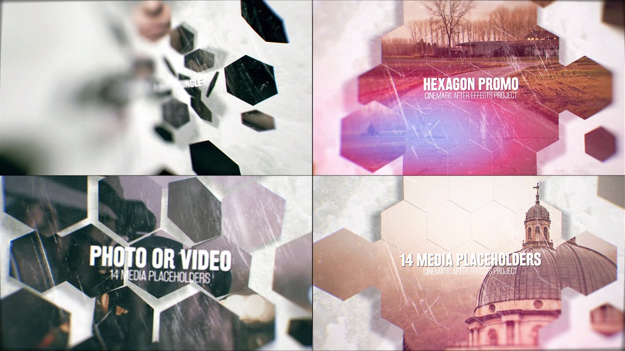 hexagon promo after effects template - youtube, Presentation templates