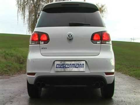 vw golf vi 6 gti eisenmann duplex sportauspuff youtube. Black Bedroom Furniture Sets. Home Design Ideas