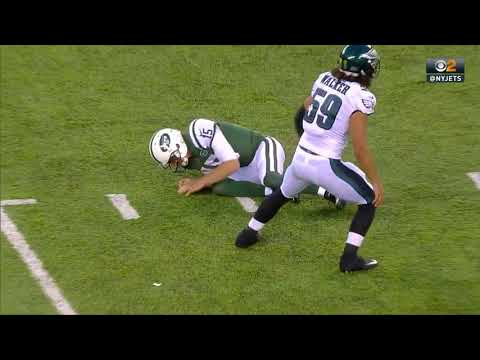 Josh McCown injured after tackle on 20 yard completion