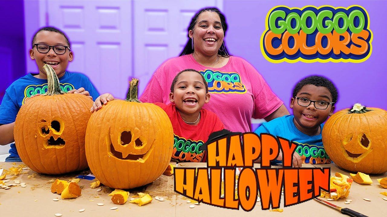 Download How To Carve Halloween Pumpkins with Kids  Goo Goo Colors DIY