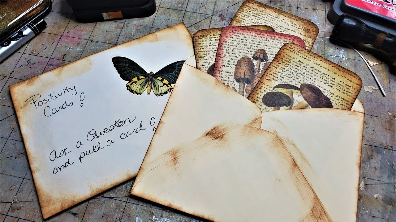 How to Make a Positivity Card Set for Your Junk Journals! Fun & Easy Tutorial! The Paper Outpost! :)