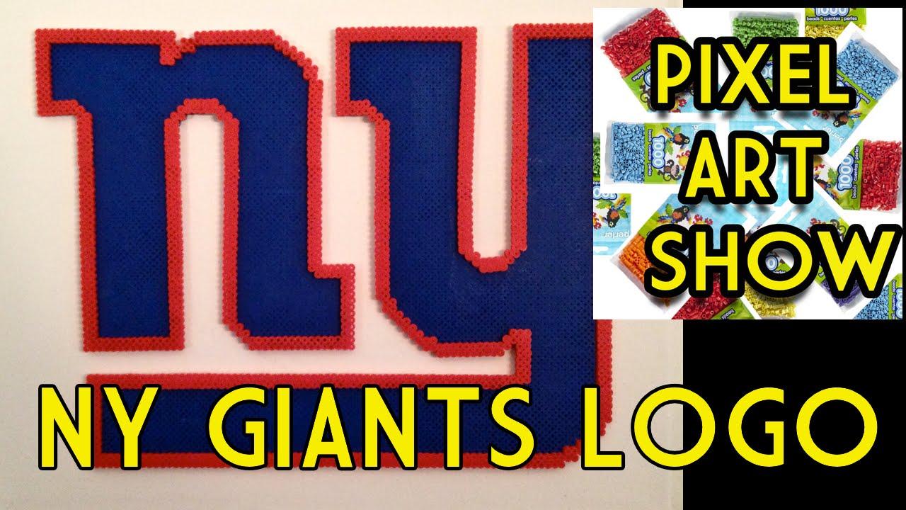 Perler Bead Ny Giants Logo Pixel Art Show