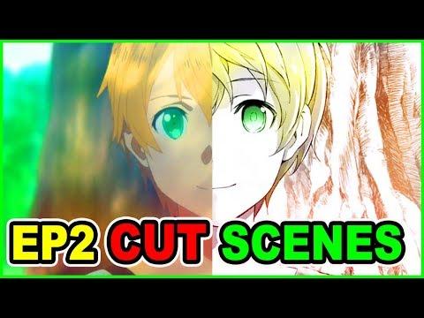 BLONDE KIRITO?! CUT CONTENT! SAO Alicization Episode 2    Sword Art Online Season 3 Anime vs Novel