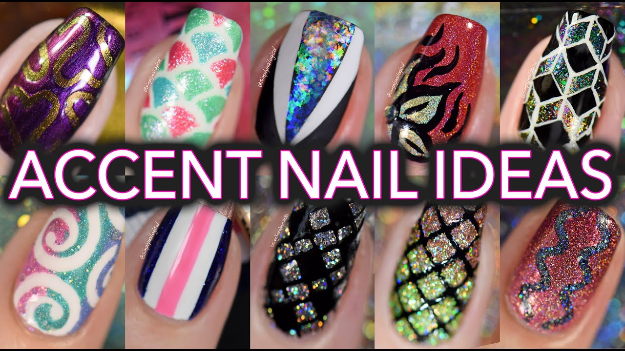 Easy accent nail art tutorials compilation youtube sciox Image collections