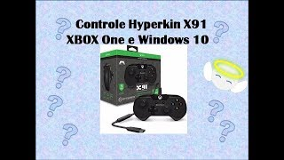 Unboxing  Controle X 91 Hyperkin Xbox One