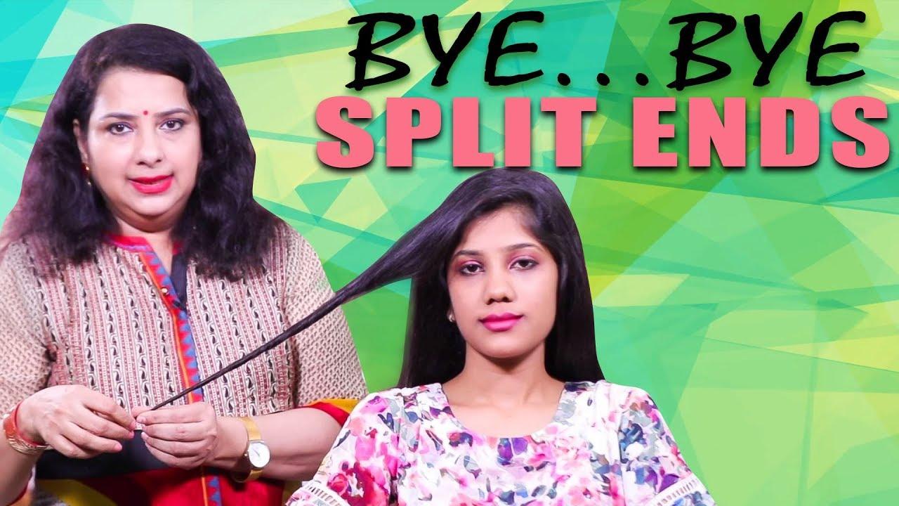 How to Avoid Split Ends Naturally!  Vasundhara Tips