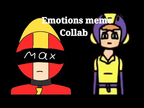 Emotions meme/Collab with Alien Pi/Brawl stars/ [Max and Bea]