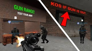 Shooting range with a KOS sign for guns - DarkRP